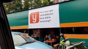 Penasaran dengan tagline di tenda ijo tempat makan samping gedung BNI