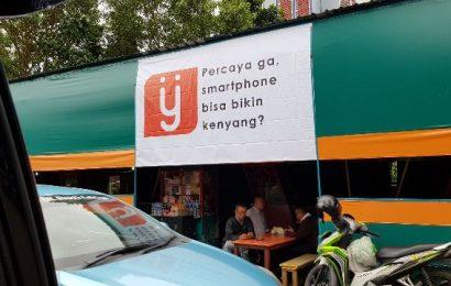 Penasaran dengan tagline di tenda ijo tempat makan di samping gedung BNI Jakarta Pusat