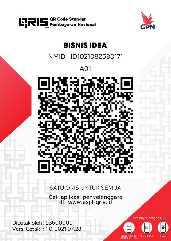 online payment BISNIS IDEA QRIS PTEN